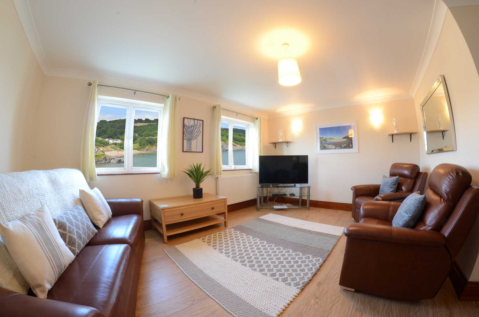 Glanmordy No 3 lounge 2 - Aberporth Holiday Cottages